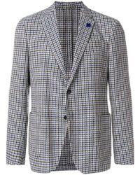 Lardini - Houndstooth Buttoned Blazer - Lyst