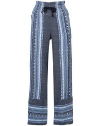 lemlem - Embroidered Details Straight Trousers - Lyst
