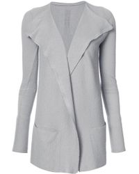 Rick Owens Open Front Cardigan in Gray - Lyst 3a545c771