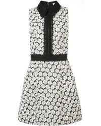 Alice + Olivia Ellis Embroidered Floral Dress