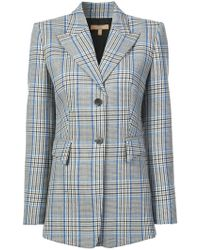 Michael Kors - Checked Single-breasted Blazer - Lyst