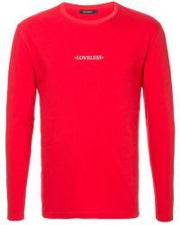 Loveless - Longsleeved Logo Print T-shirt - Lyst