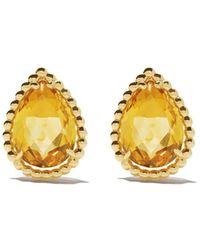 Boucheron 18kt Yellow Gold Serpent Bohème Citrine Teardrop Stud Earrings - Multicolour
