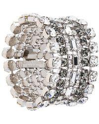 Alberta Ferretti - Layered Rhinestone Bracelet - Lyst