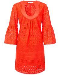Trina Turk - Flared-sleeve Mini Dress - Lyst