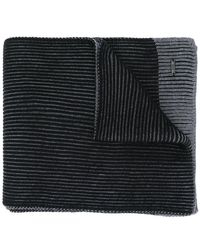 BOSS - Ribbed Contrast Knitted Scarf - Lyst