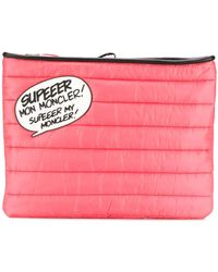 Moncler - Speech Bubble Quilted Clutch - Lyst