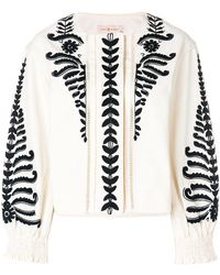 Tory Burch | Embroidered Button-front Jacket | Lyst