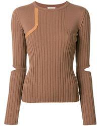 Nina Ricci - Cut Out Sleeved Jumper - Lyst