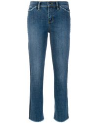 Tory Burch - Raw Edge Cropped Jeans - Lyst