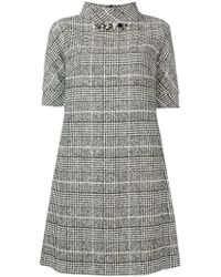 Blugirl Blumarine - Checked Dress - Lyst