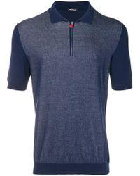 Kiton - Panelled Polo Shirt - Lyst