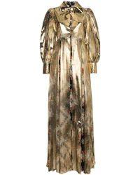 75827ffa2 Gucci - Vestido largo con motivo floral - Lyst