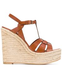 Saint Laurent - Tribute Espadrille Wedged Sandals - Lyst