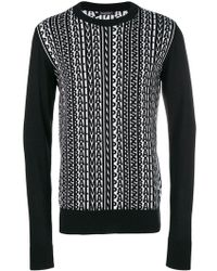 Balmain - Logogram Knit Jumper - Lyst