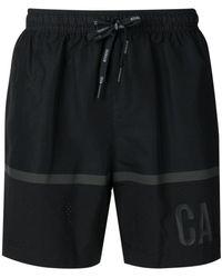 CALVIN KLEIN 205W39NYC - Stripe And Logo Print Swim Shorts - Lyst