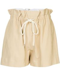 Bassike - Drawstring Paper-bag Shorts - Lyst