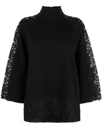 Blumarine - Floral Lace Embellished Jumper - Lyst