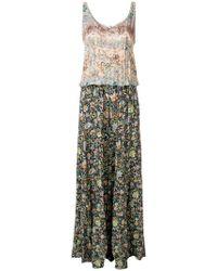 Black Coral - Two Tone Floral Jumpsuit - Lyst