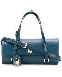 Nina Ricci Sac porté épaule à design structuré - Bleu
