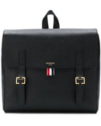 72cfb5b306b7 Thom Browne - Unstructured Leather Book Bag - Lyst