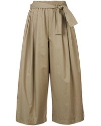 TOME - Cropped Palazzo Pants - Lyst