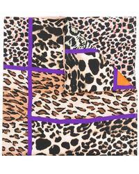 Pierre Louis Mascia - Contrast Leopard Print Scarf - Lyst