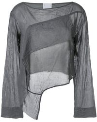 Lost and Found Rooms - Long-sleeve Draped Blouse - Lyst