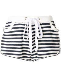 Natasha Zinko - Drawstring Stripe Shorts - Lyst