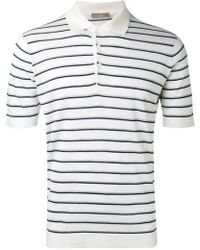 Cruciani - Striped Polo Shirt - Lyst