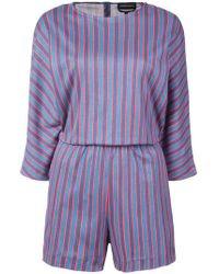 Vanessa Seward - Striped Playsuit - Lyst