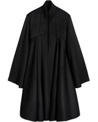 Burberry - Tailored Doeskin Wool Cape - Lyst