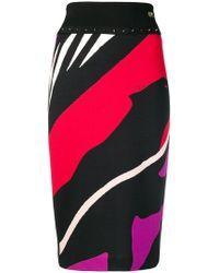 Class Roberto Cavalli - Striped Pencil Skirt - Lyst