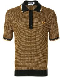 198e79e8 Fred Perry X Art Comes First - Cable Knit Polo Shirt - Lyst