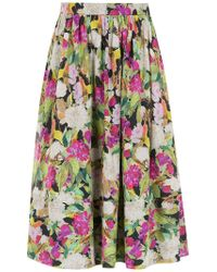 Andrea Marques - Ruched Midi Skirt - Lyst