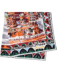 Prada - Pittoresque Moscow Printed Foulard - Lyst
