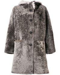 Natural Coat Shearling Schimmel Lyst In Reversible Sylvie BXqZ0xf0