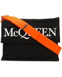 Alexander McQueen - Logo Print Holdall Bag - Lyst