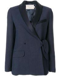 Maison Kitsuné - Shawl Collar Knotted Jacket - Lyst
