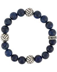 King Baby Studio - Woven Engraved Beaded Bracelet - Lyst