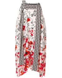 Dorothee Schumacher | Floral Print Asymmetric Skirt | Lyst