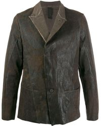 Transit Aged-look Leather Jacket - Brown