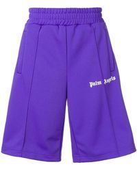 Palm Angels - Oversized Track Shorts - Lyst