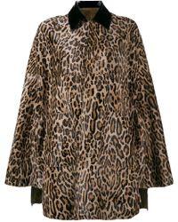 SKIIM - Goatskin Leopard Print Cape - Lyst