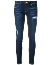 Frankie Morello - Distressed Style Jeans - Lyst