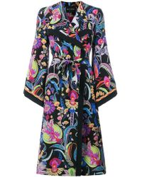 Etro - Long Patterned Trench Coat - Lyst