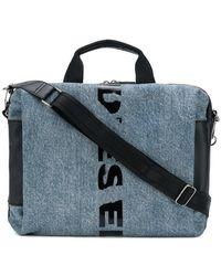 DIESEL - Slashed Logo Messenger Bag - Lyst