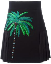 Fausto Puglisi - Embroidered Side Pleat Skirt - Lyst