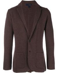 Lardini - Wool Blazer Cardigan - Lyst
