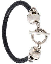 Alexander McQueen - Woven Skull Bracelet - Lyst